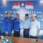 Bakal Calon Bupati Bengkayang, Martinus Kajot saat menerima rekomendasi dukungan dari Partai Amanat Nasional