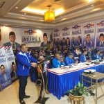 Ketua DPW PAN Kalbar, Boyman Harun saat memberikan sambutannya dalam Muswil V PAN Kalbar