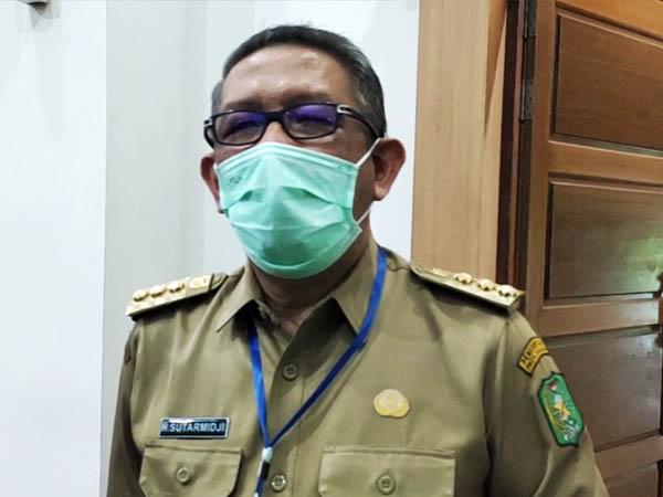 Gubernur Kalbar, Sutarmidji saat diwawancarai wartawan mengenai perkembangan kasus Covid-19 di Kalbar