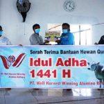 Memaknai Idul Adha,  PT WHW Salurkan Hewan Kurban ke Empat Dusun di Kendawangan 8