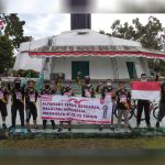 Jelajah Nusantara, Alfamart Gowes Berakhir di Tugu Libra Merauke