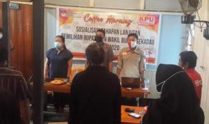KPU Sekadau Coffee Morning Bersama Wartawan Sosialisasikan Tahapan Lanjutan Pilkada 2020 1
