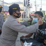 Turun ke Jalan, Kapolres Ketapang Pimpin Gerakan Wajib Pakai Masker 16