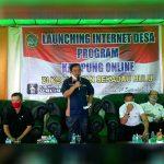 Bupati Rupinus Hadiri Launching Internet Desa 20