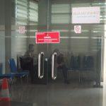 Salah satu ruang di Dinas PUPR Kalbar yang disegel oleh pihak kepolisian