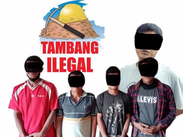 Polisi Kembali Amankan Pelaku PETI di Sandai Ketapang 1