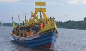 Ziarah Akbar Kerajaan Matan Tanjungpura, Lancang Kuning Arungi Sungai Pawan 2