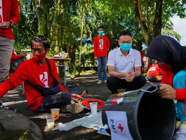 Momentum Hari Ulang Tahun (HUT) Palang Merah Indonesia ke-75.