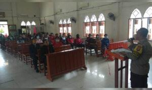 Safari Minggu Polres Sekadau Ajak Jemaat Gereja Sukseskan Pilkada Damai 3
