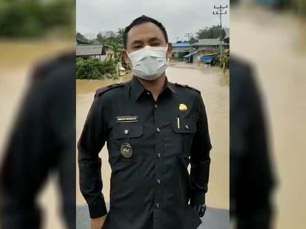 Wabup Wahyudi Batal Monitoring Pelaksanaan PPKM di Silat Hilir Gegara Banjir