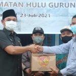 Wahyudi Hidayat Serahkan Bantuan untuk Korban Banjir di Hulu Gurung