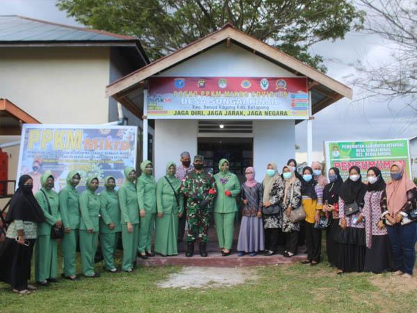 Danrem Cek Posko PPKM Mikro Wilayah Kodim 1203 Ketapang