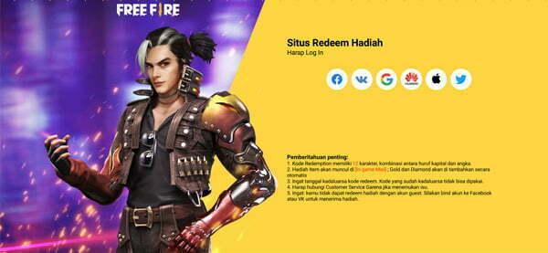 Kode Redeem Free Fire Agustus 2021 Gratis
