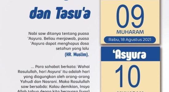 Niat Puasa Tasu'a dan Asyura Bulan Muharram Serta Jadwal Pelaksanaannya