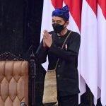 Pakai Baju Adat Baduy, Presiden Jokowi Sampaikan Pidato Kenegaraan dalam Sidang Tahunan MPR 2021