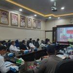 Wabup Wahyudi Ikuti Rakornas Pengendalian Inflasi Virtual dengan Presiden