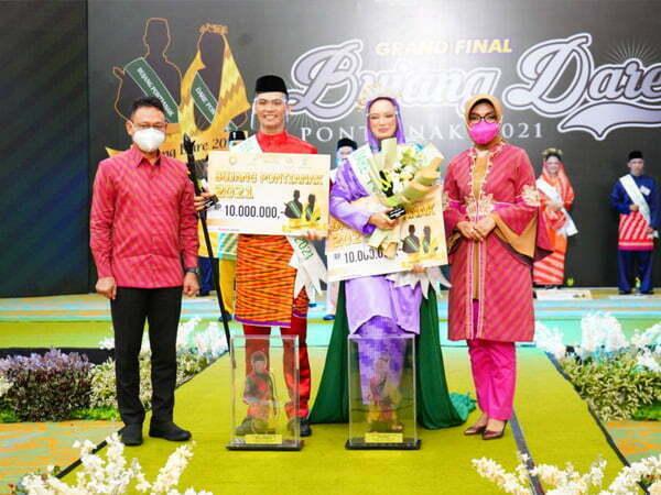 Ramadhan dan Tiara Dinobatkan Bujang Dare Pontianak 2021