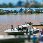 Jangkau Warga di Pesisir Sungai, Polres Melawi Gelar Vaksinasi Terapung