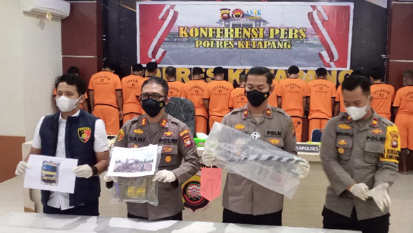 Polisi Ringkus 10 Pelaku PETI di Kecamatan MHS Ketapang