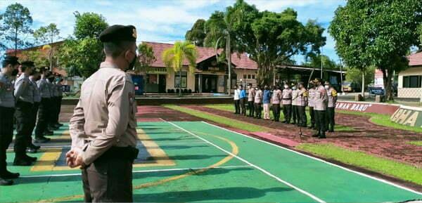 Polres Melawi Lepas BKO Pengamanan Antisipasi Aksi Demo Kasus Ahmadiyah di Sintang