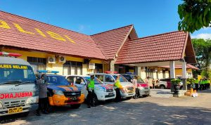 Tingkatkan Disiplin Prokes, Polres Melawi Launching Mobil Masker