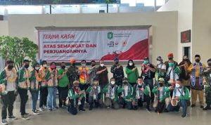 Sujiwo Sambut Kedatangan Atlet Tarung Derajat dan Aeromodelling PON XX Papua